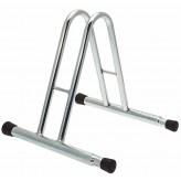 One space high grounded-based bike matchable rack in galvanized steel - with caps