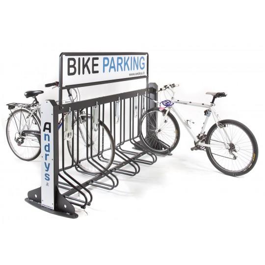 Porta biciclette smontabile per arredo urbano