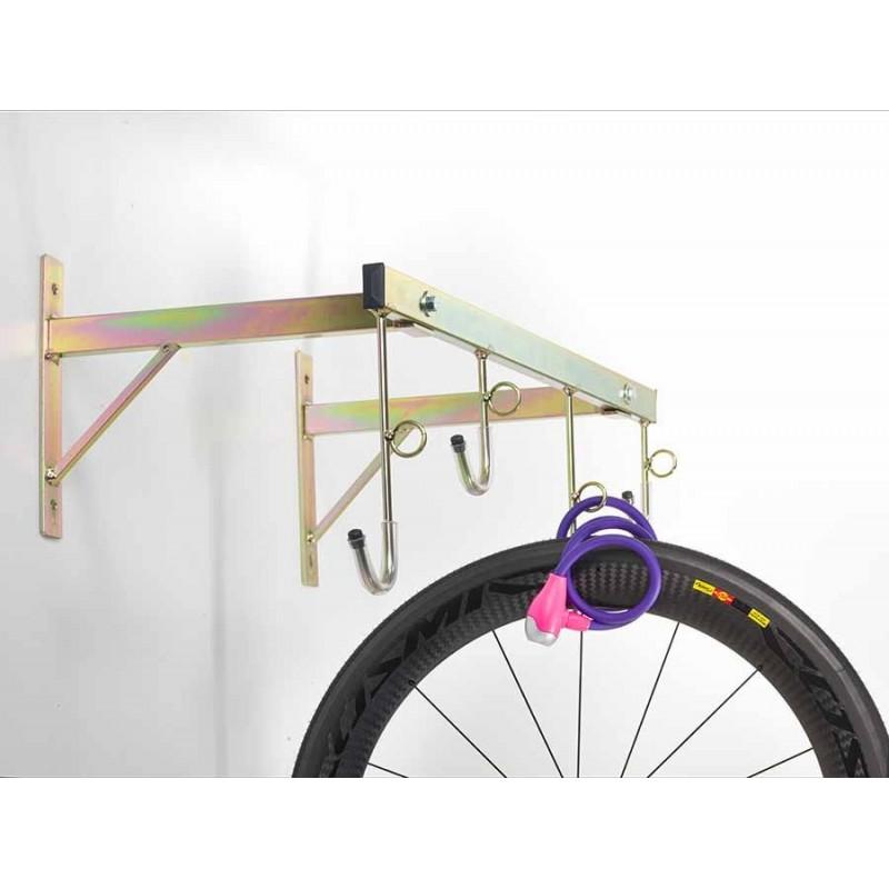 Porta biciclette a parete 4 posti smontabile