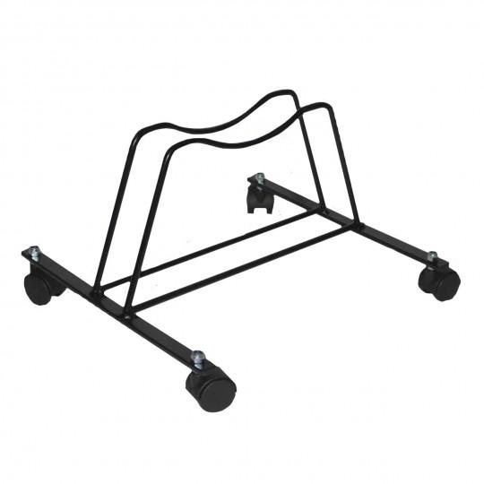 Porta biciclette a pavimento da 1 posto girevole in acciaio