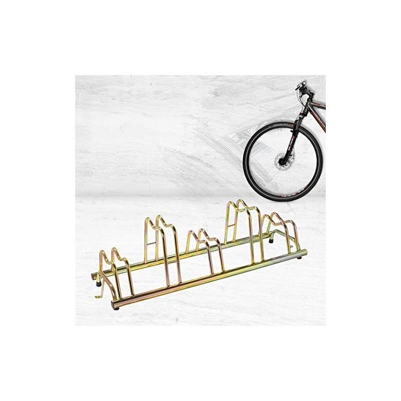 Porta biciclette a terra 5 posti