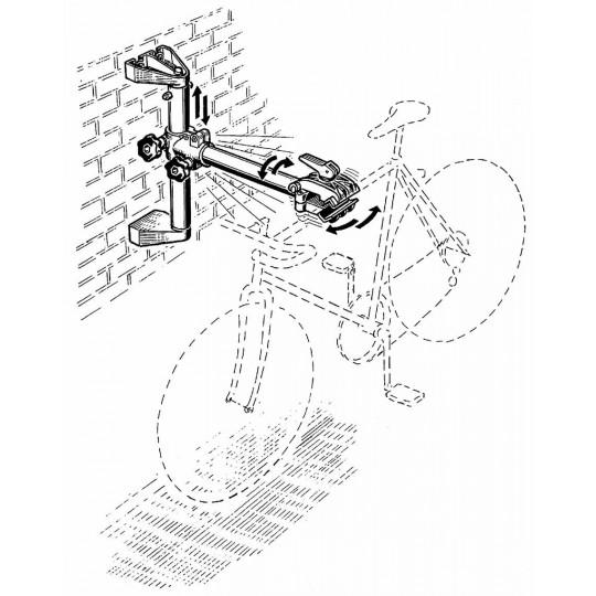Supporto a parete per manutenzione, riparazione ,rimessaggio biciclette