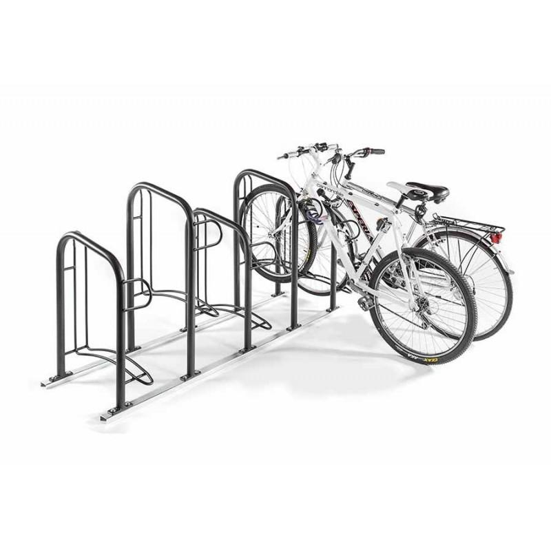 Porta biciclette modulabile per arredo urbano smontabile