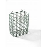 Varnished wall net bin.