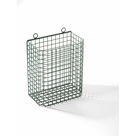 Varnished wall net bin.