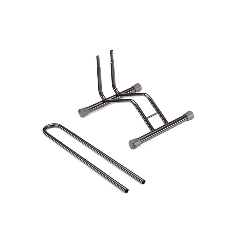 Bicycle rack to the floor 1 place removable steel, painted black,