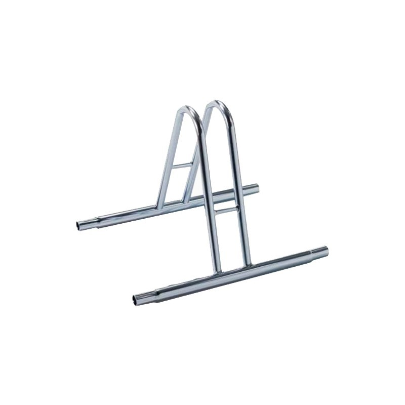 One space high grounded-based bike conjuction rack in galvanized steel