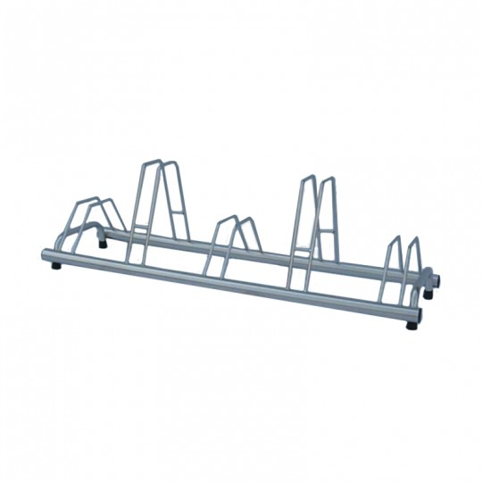 5 spaces grounded-based bike rack in stainless steel- with anchoring brackets