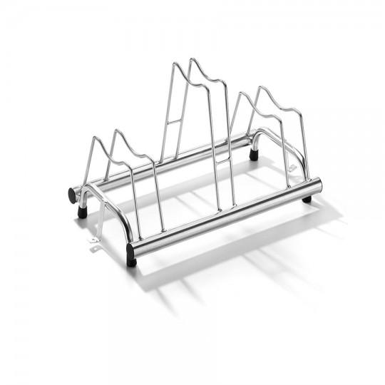 Porta biciclette a terra 3 posti, posteggio copertoni misti da 6 cm a 8 cm