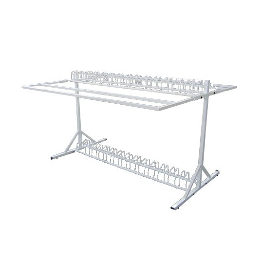 Display unit for kids' bike rack with 28 spaces