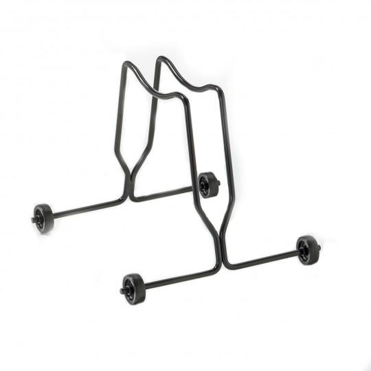 Porta biciclette a terra 1 posto con ruote fisse
